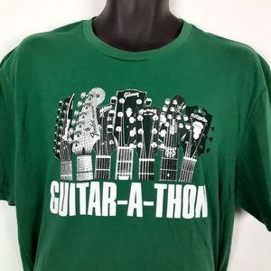 Guitar A Thon Center Promo T Shirt Green 2XL
